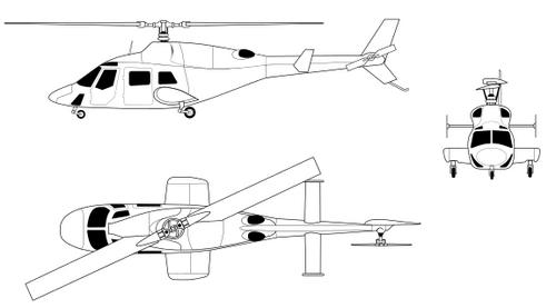 bell 222 profile
