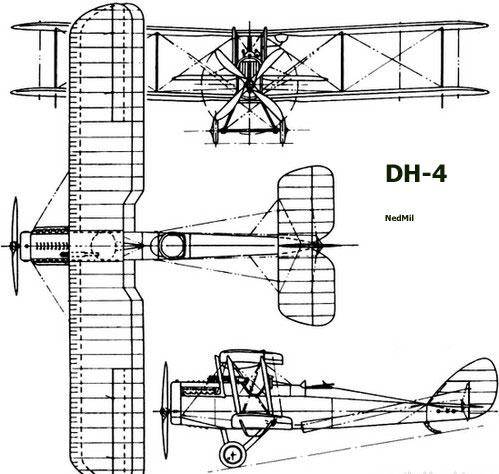 dehavilland-dh4-profile