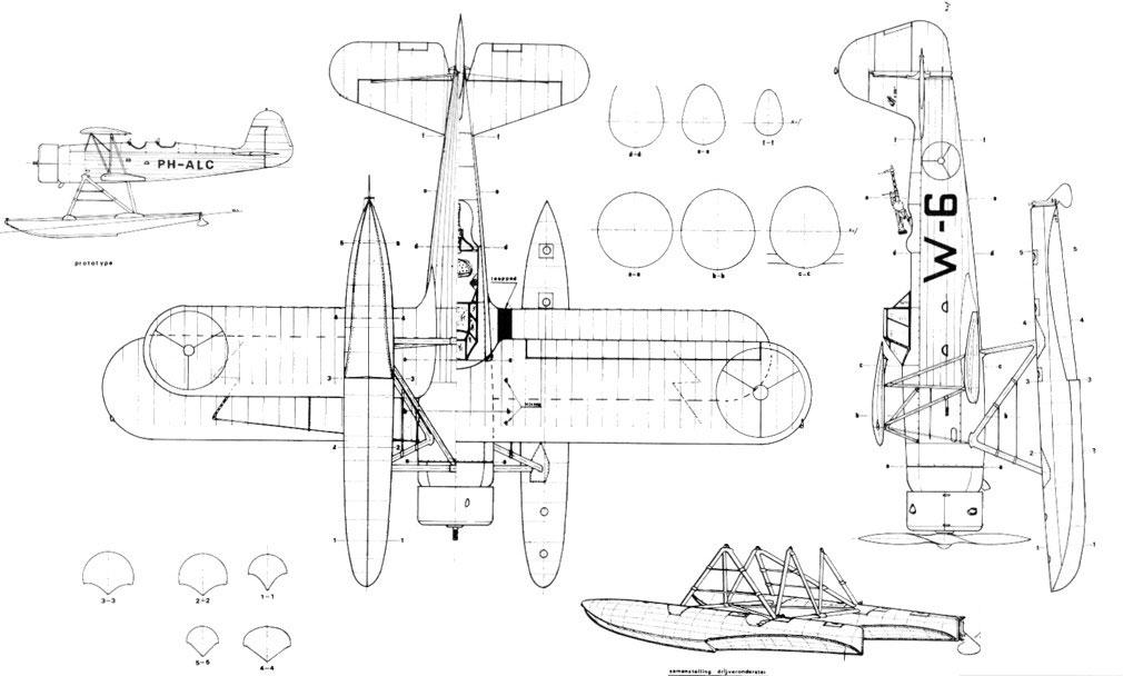 fokker-c11w-drawing-mb
