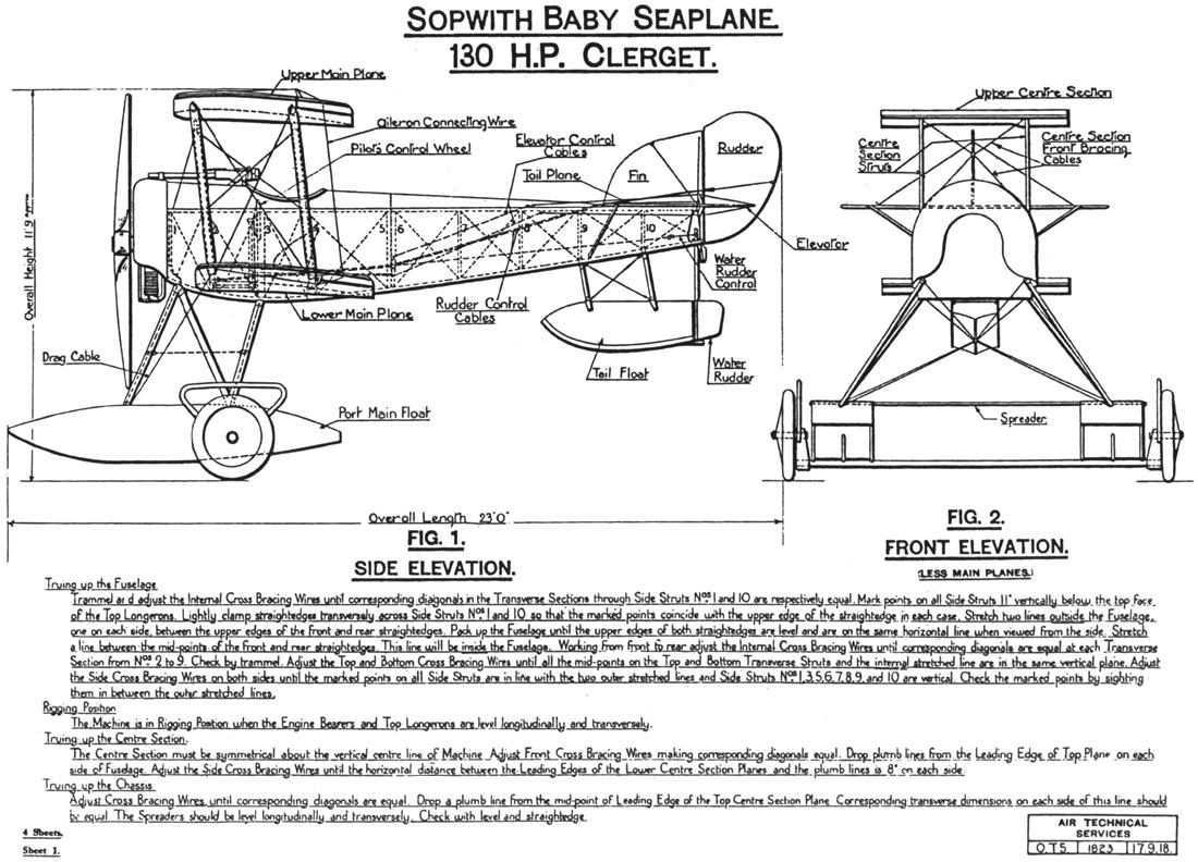 sopwith baby rigging