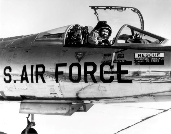 Chuck Yeager in NF 104