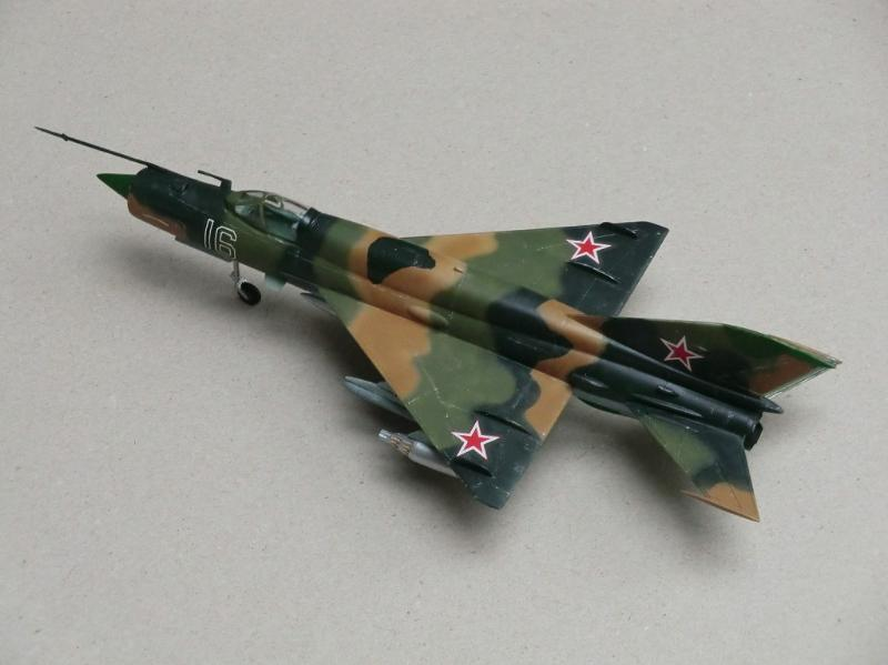 MIG-21SMT in multi colored schemem with sand brown, green and black