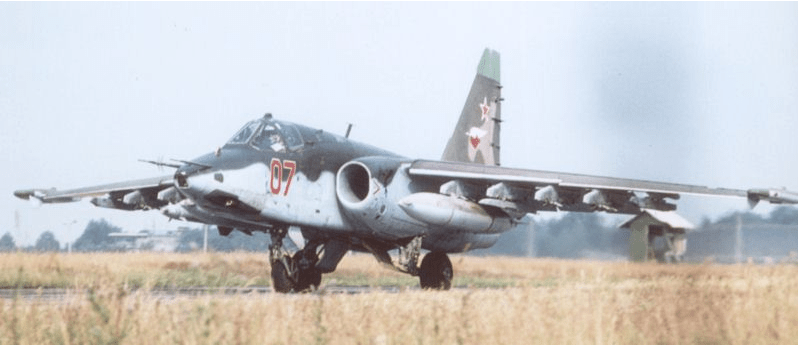 Su-25 with the typical VVS high demarcation line between upper and lower camouflage